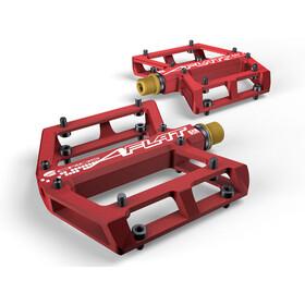 ACROS A-Flat SL Pedaler titanium rød
